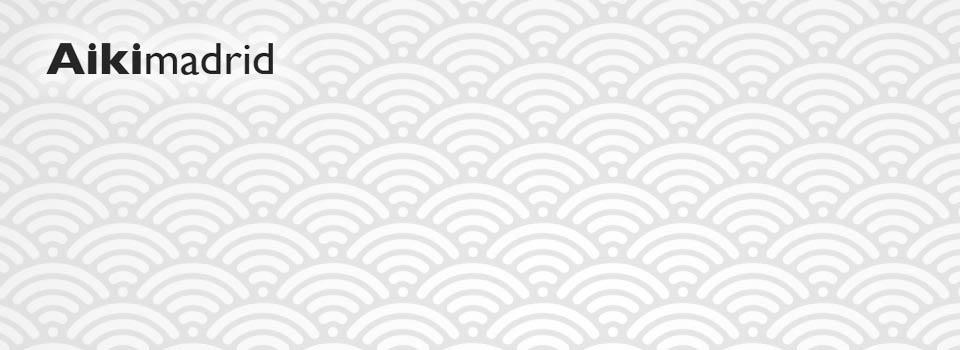 """Textura japonesa con logotipo, apertura para Aikimadrid"""