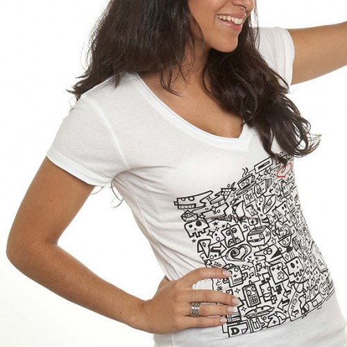 Camiseta brainstorming blanca