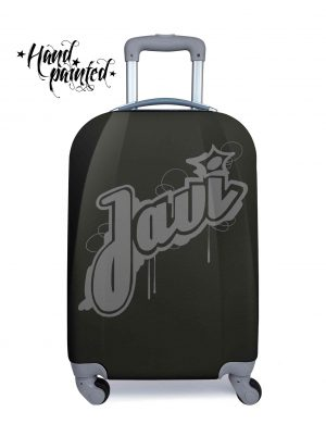 """Maleta personalizada negra graffiti modelo tu maleta"""